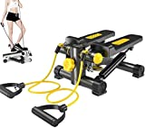 Apoliena 2 in 1 Stepper with Power Ropes Body Sculpture Lateral Twist Stepper Hydraulic Mini Weight...