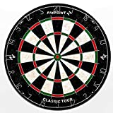 Pinpoint Classic Tour Beginner Dartboard - Training Darts Board for Bar Games   Games Room...