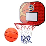 Outdoor-Sport 1 Set mit Ansaugung an der Wand, Basketballkorb, Basketballkorb, Mini-Basketball-Board...